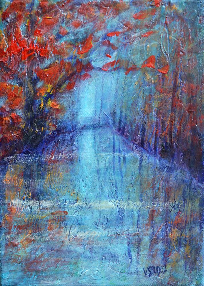 """Day-dream"" original fine art by Véronique Saudez"