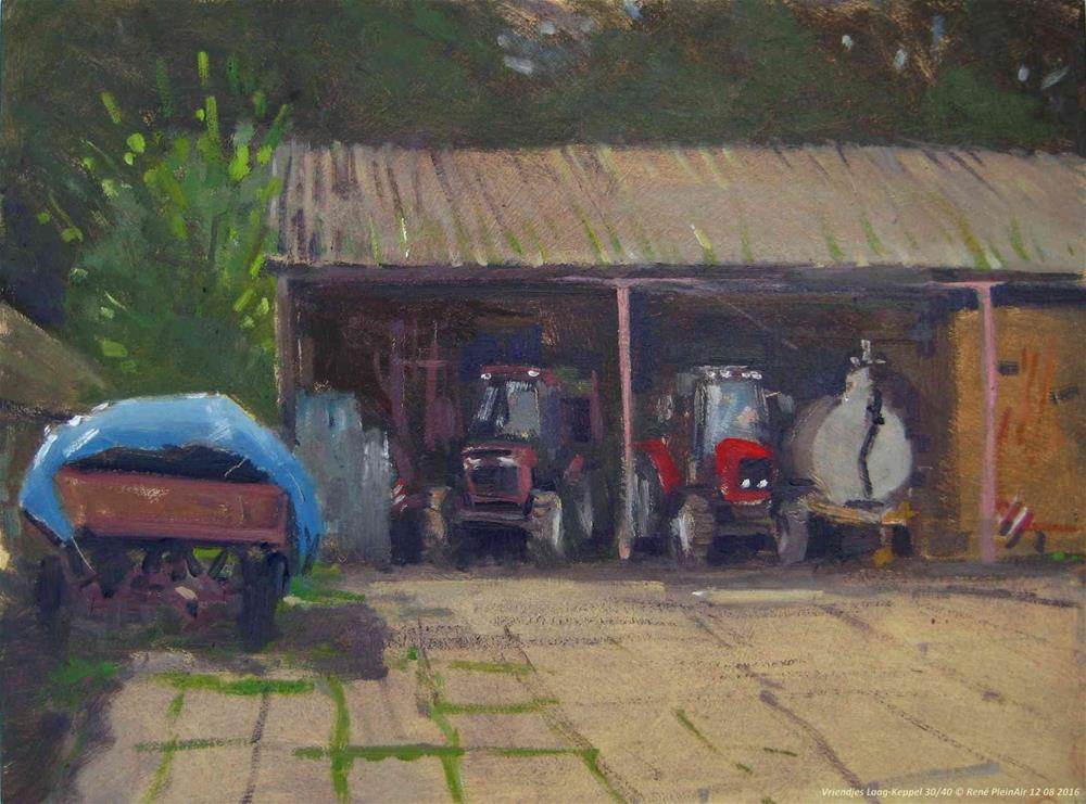 """Friends Laag-Keppel, the Netherlands"" original fine art by René PleinAir"