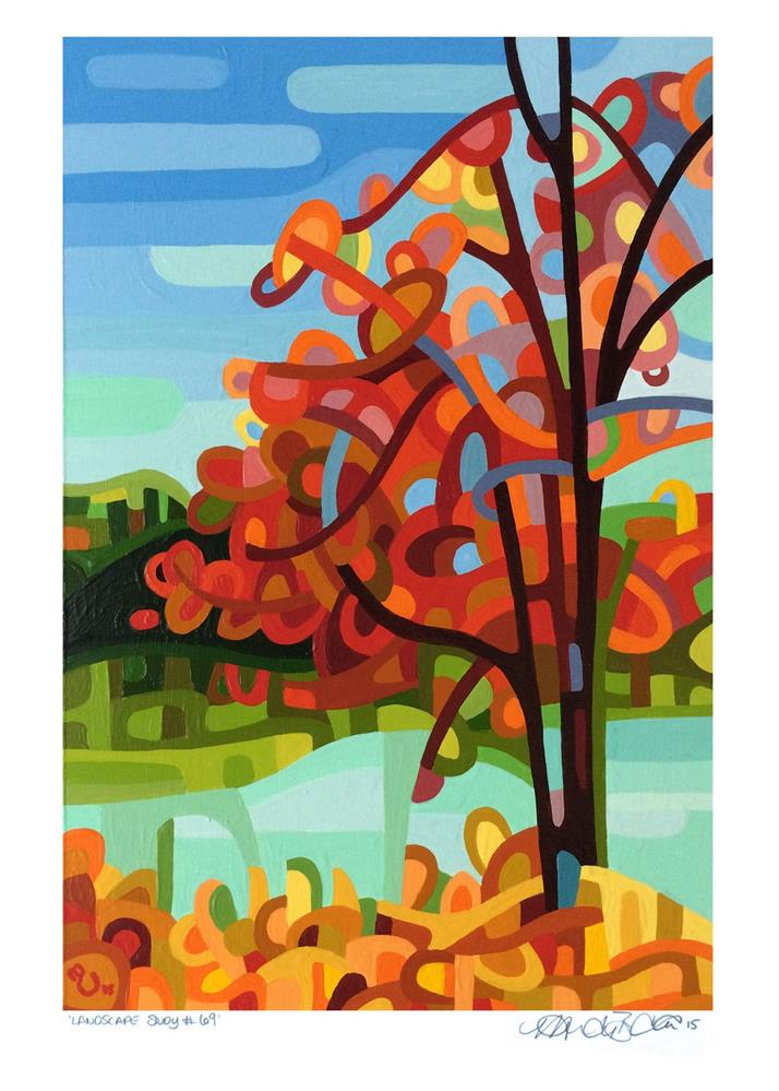 """Landscape Study #69"" original fine art by Mandy Budan"