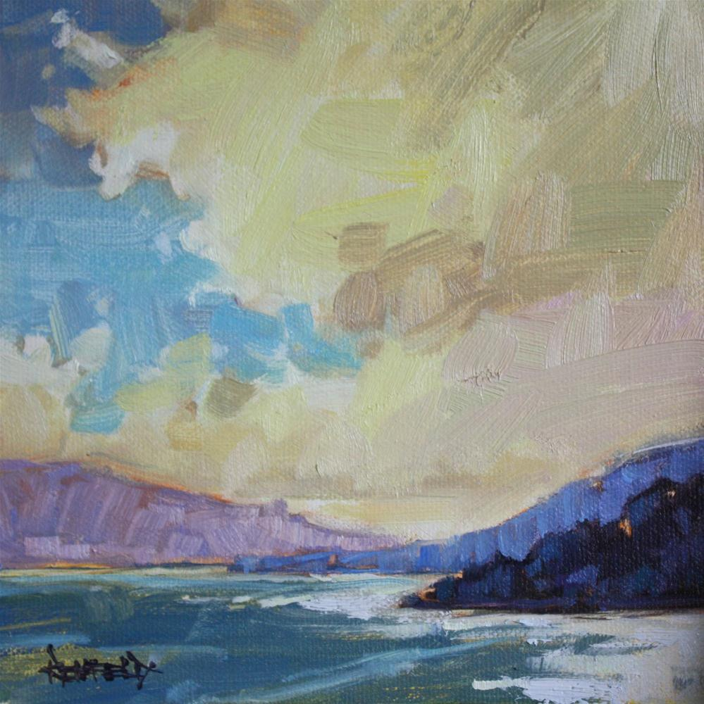 """""""Clouds and Sun in the Gorge"""" original fine art by Cathleen Rehfeld"""