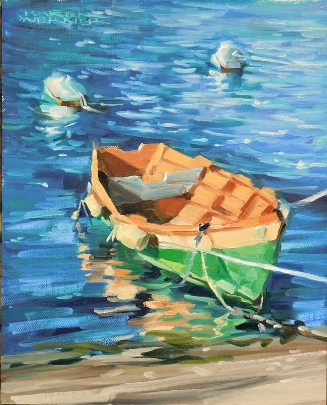 """""""Cheapie Del Rio"""" original fine art by Karen Werner"""
