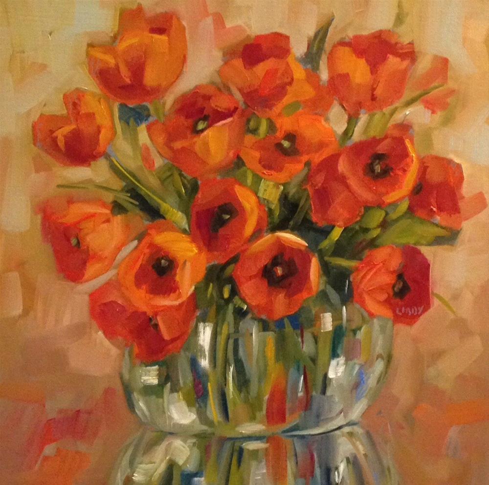 """Pop of Color"" original fine art by Libby Anderson"