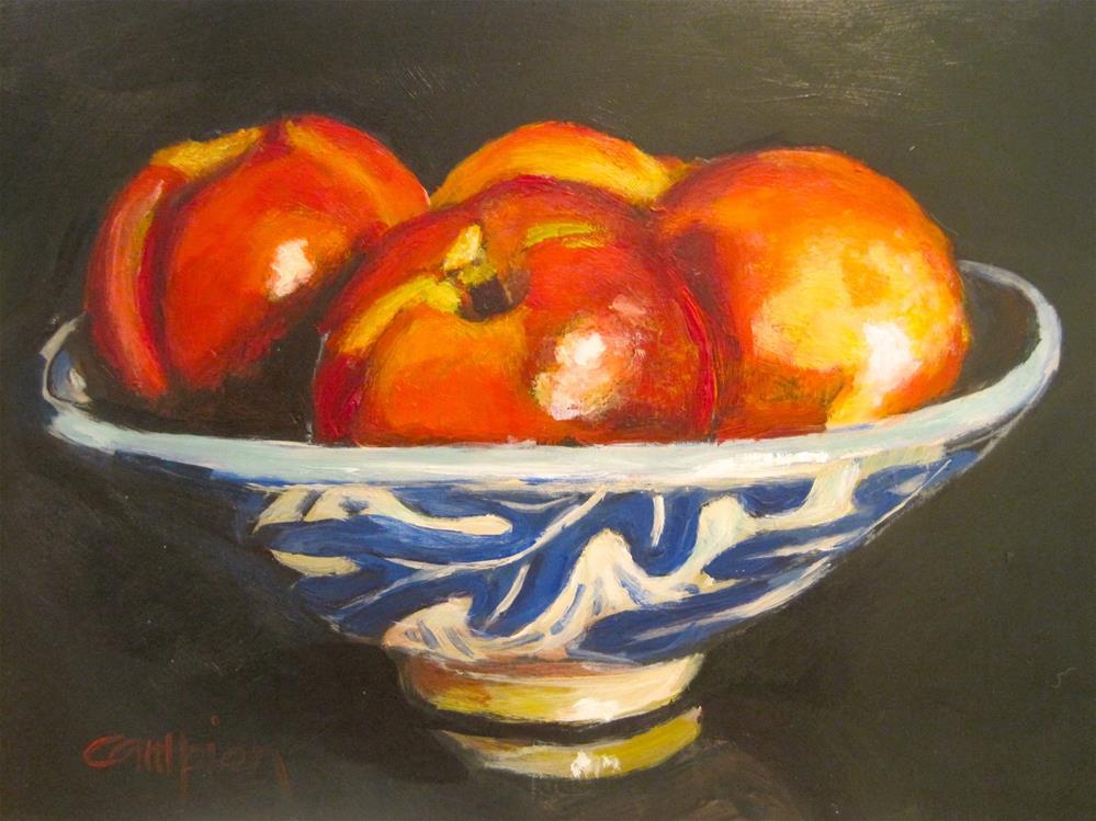 """""""419 Nectarines"""" original fine art by Diane Campion"""