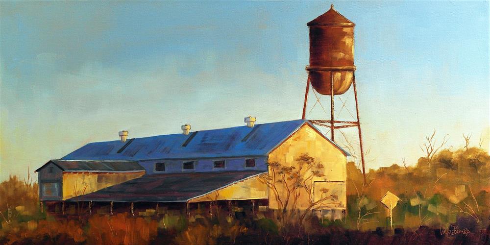 """Midville Evening Light"" original fine art by Vicky Bernard"