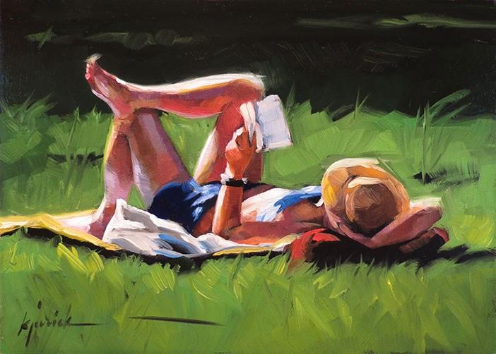 """Warm Spot"" original fine art by Karin Jurick"