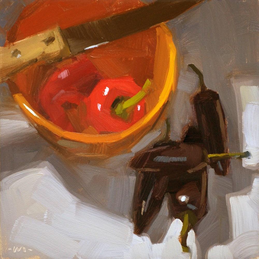 """Two Kinds of Hot"" original fine art by Carol Marine"