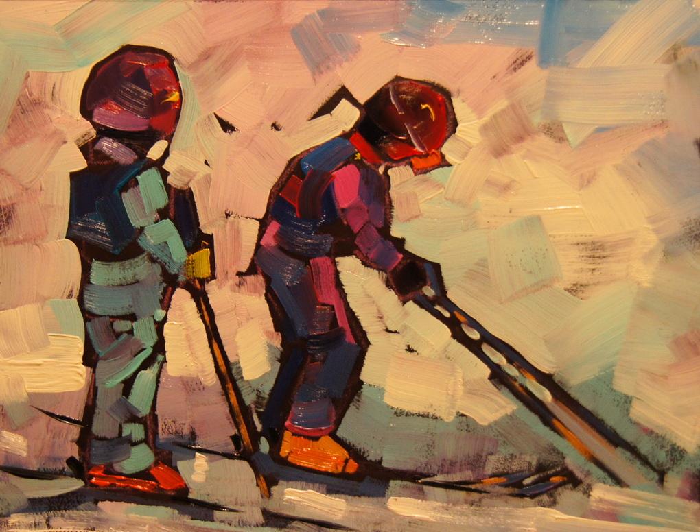 """Go for it!"" original fine art by Brian Buckrell"