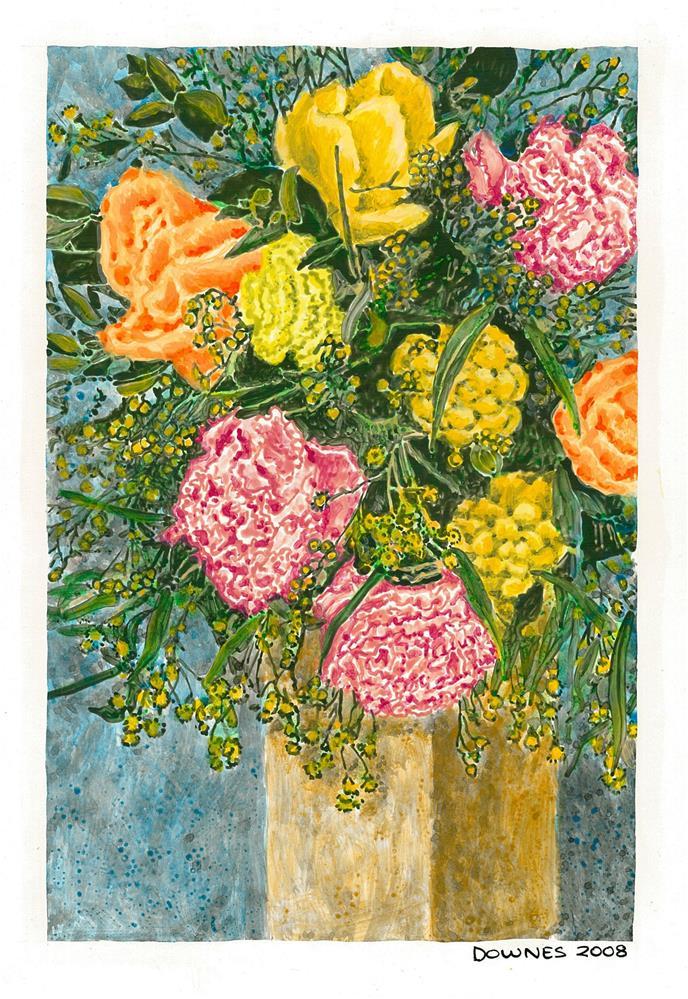 """203 CLASSIC FLOWERS 5"" original fine art by Trevor Downes"