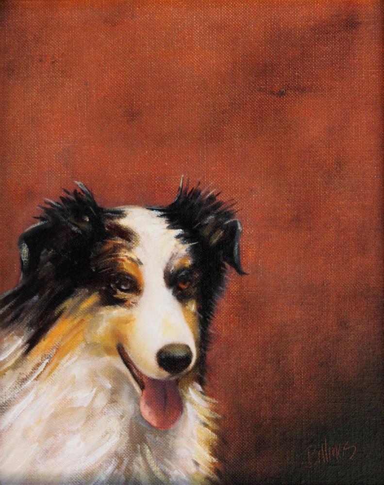 """""""Australian Shepherd"""" original fine art by Susanne Billings"""
