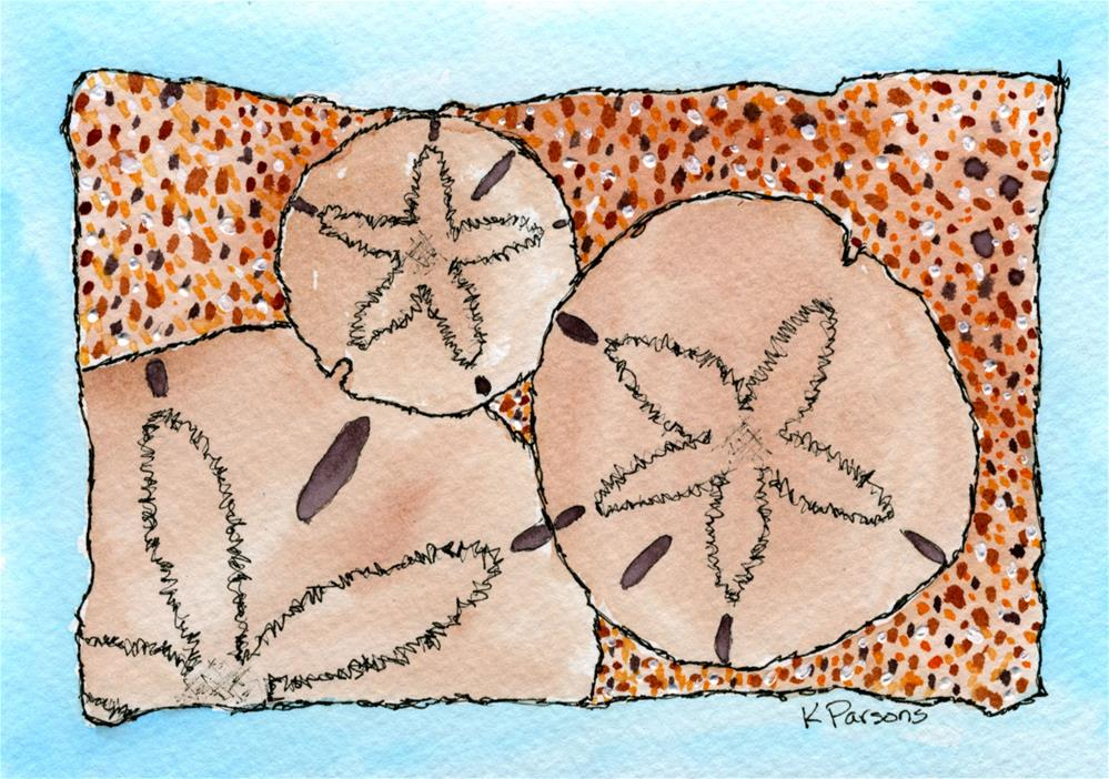 """Sand Dollars"" original fine art by Kali Parsons"