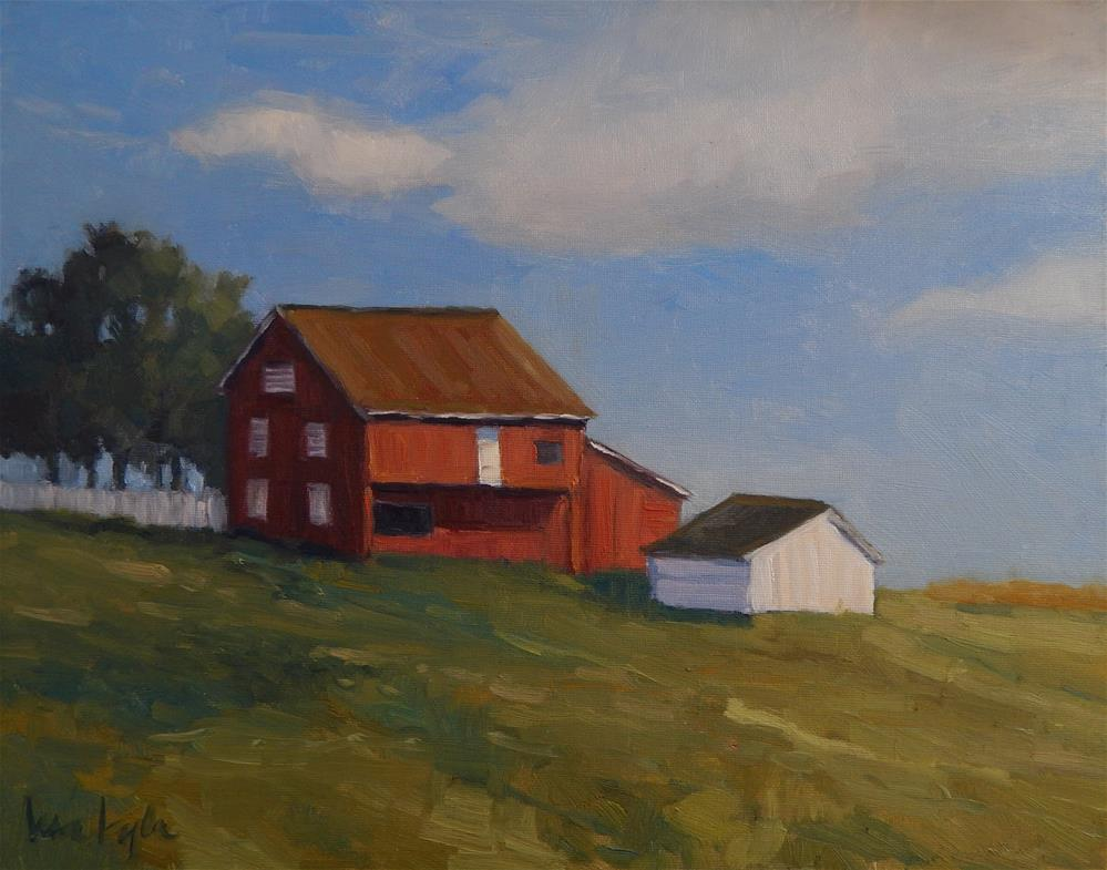 """Klingle Farm"" original fine art by Lisa Kyle"