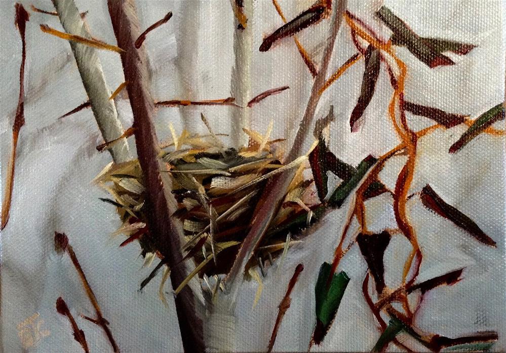 """Empty Nest"" original fine art by Bobbie Cook"