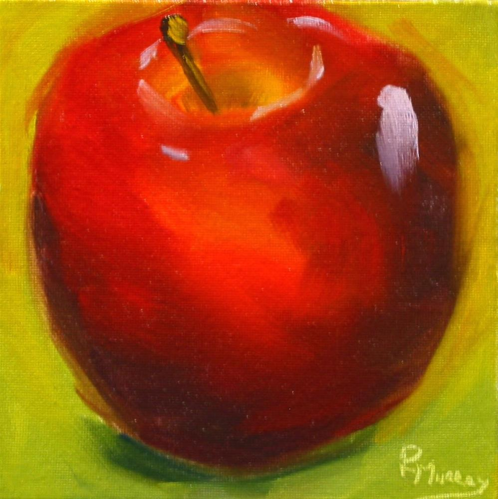 """Contemplating Apples"" original fine art by Patricia Murray"