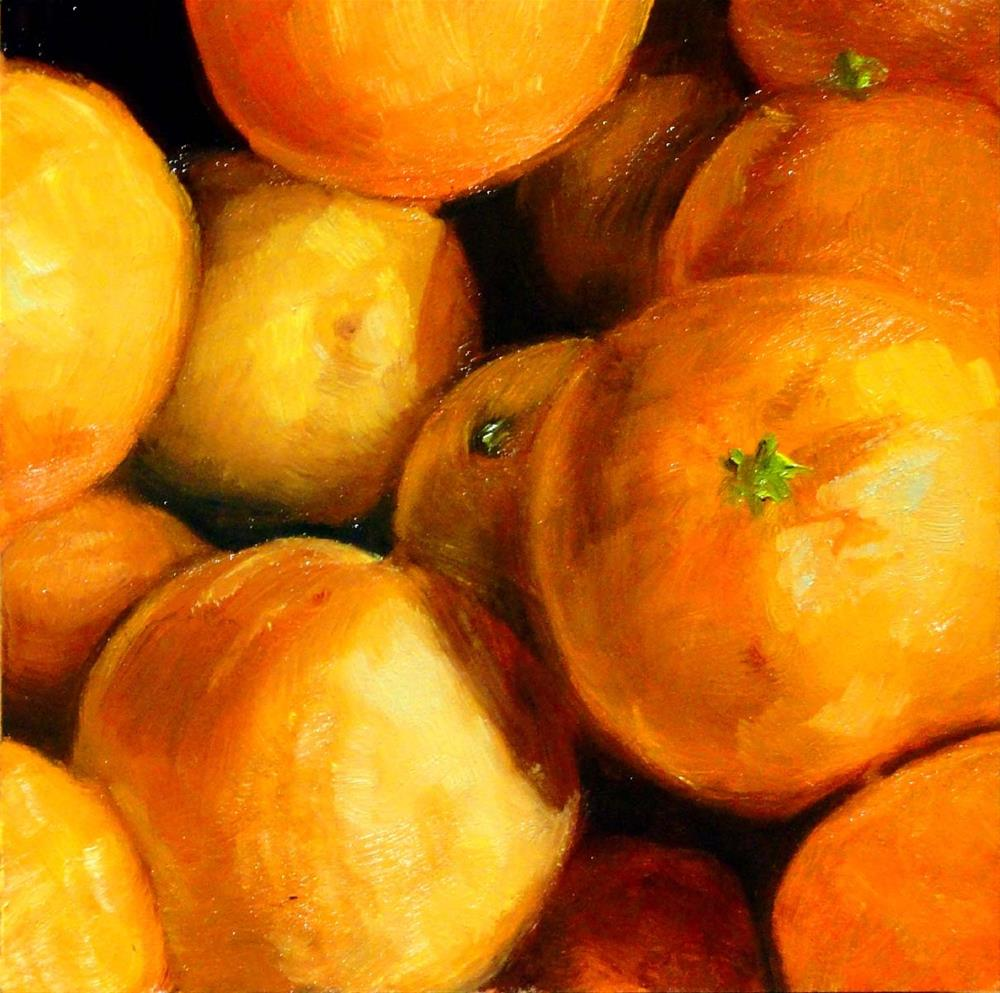 """""""A Cluster of Clementines"""" original fine art by Cietha Wilson"""