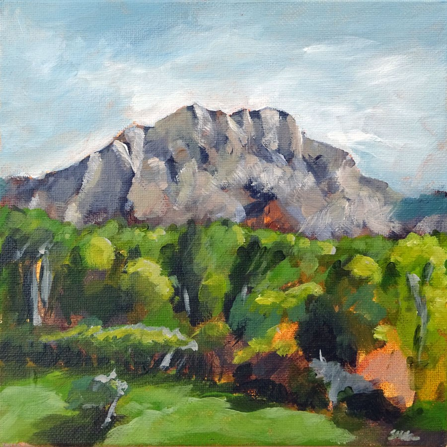 """1155 Moulin de Cézanne"" original fine art by Dietmar Stiller"