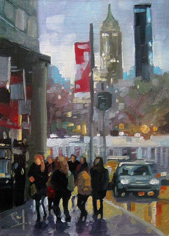 """No768_UnionSquareEmpireState"" original fine art by Robin J Mitchell"