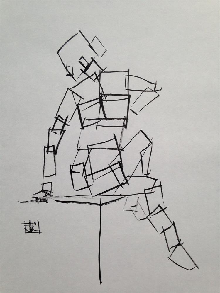 """""""box figure"""" original fine art by Arron McGuire"""