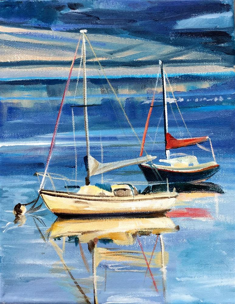 """Harborview"" original fine art by Lauren Kuhn"