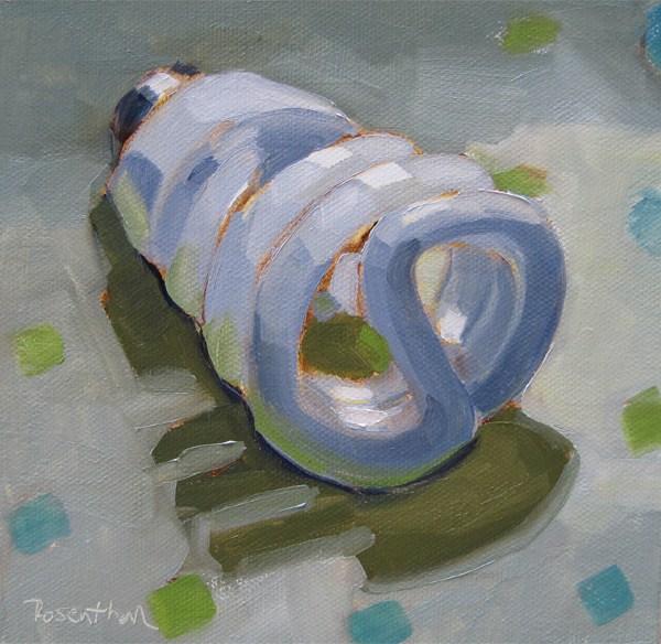 """The Lighbulb Challenge"" original fine art by Robin Rosenthal"