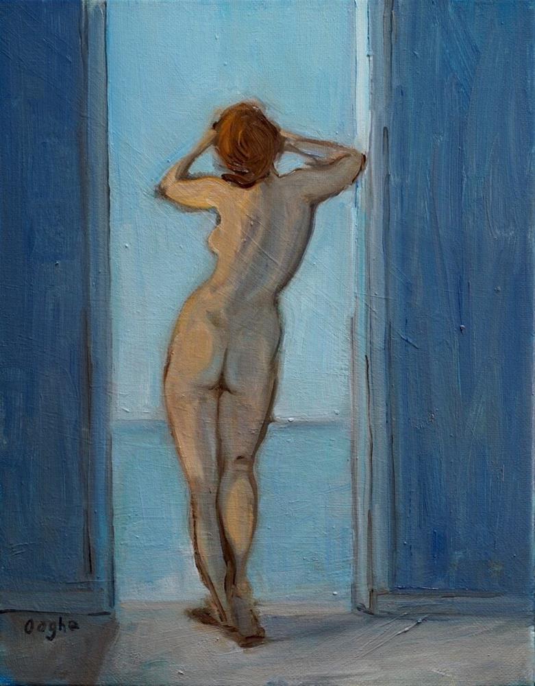 """Nude in Doorway"" original fine art by Angela Ooghe"