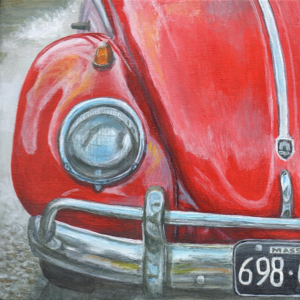 """Ruby Red"" original fine art by Debbie Shirley"