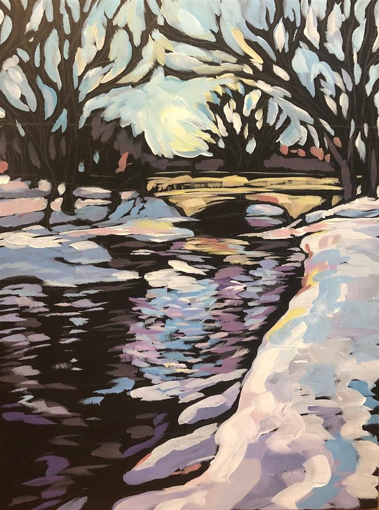 """Winter Walk"" original fine art by Kat Corrigan"