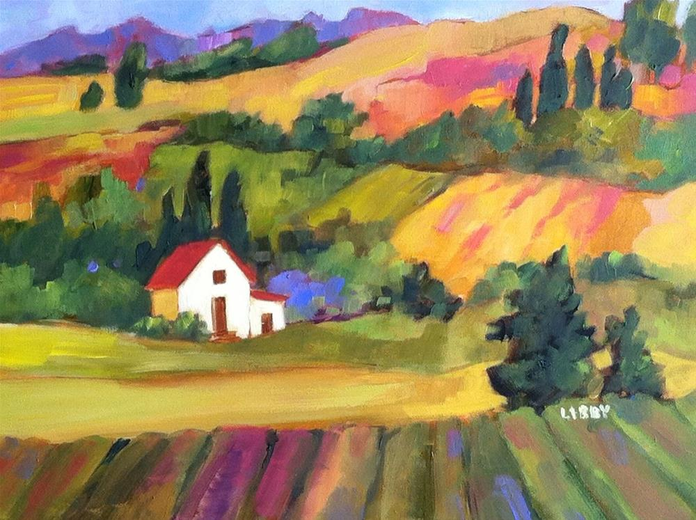 """Tuscan Color"" original fine art by Libby Anderson"