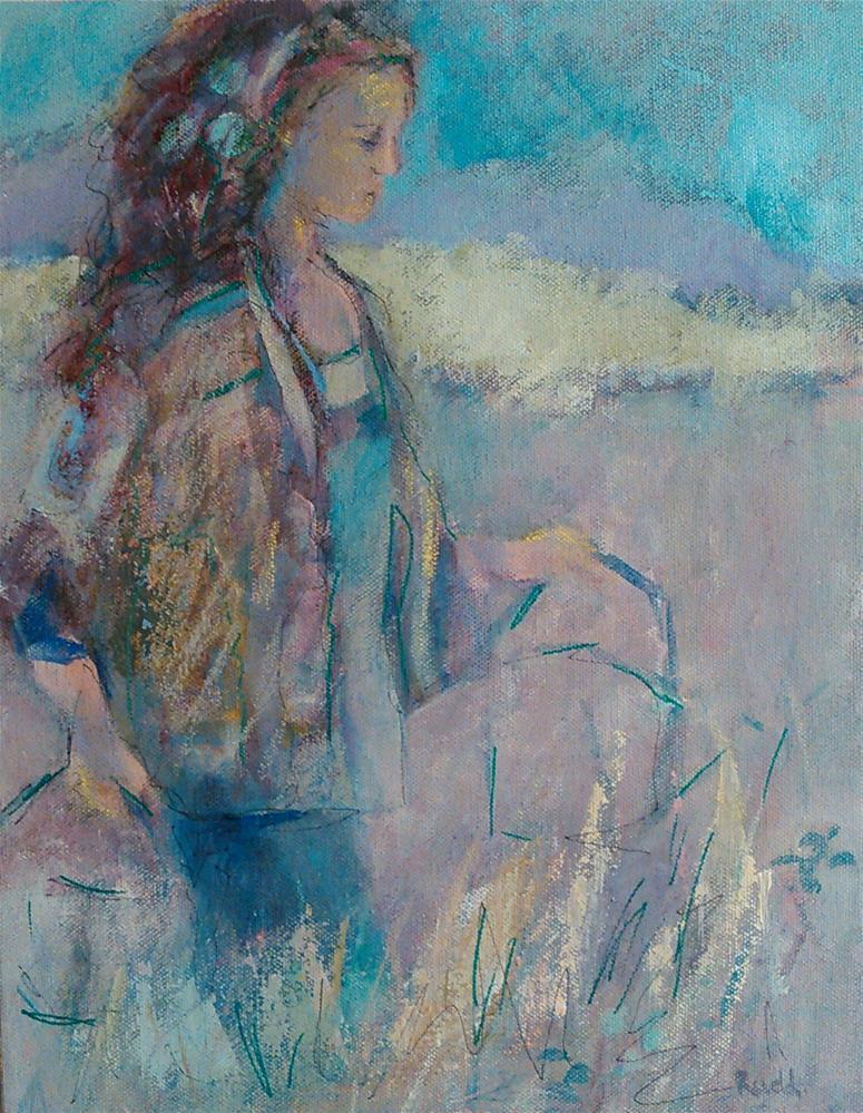 """""""Garden Girl"""" original fine art by Ann Rudd"""