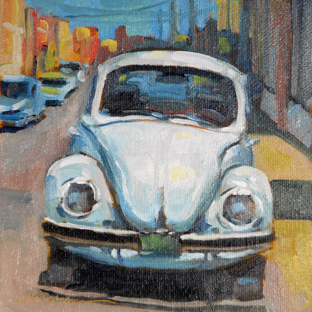 """""""Beetle Blanco"""" original fine art by Jeanne Bruneau"""