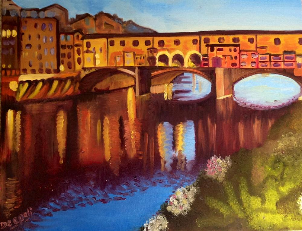 """Stone Bridge"" original fine art by Dipali Rabadiya"