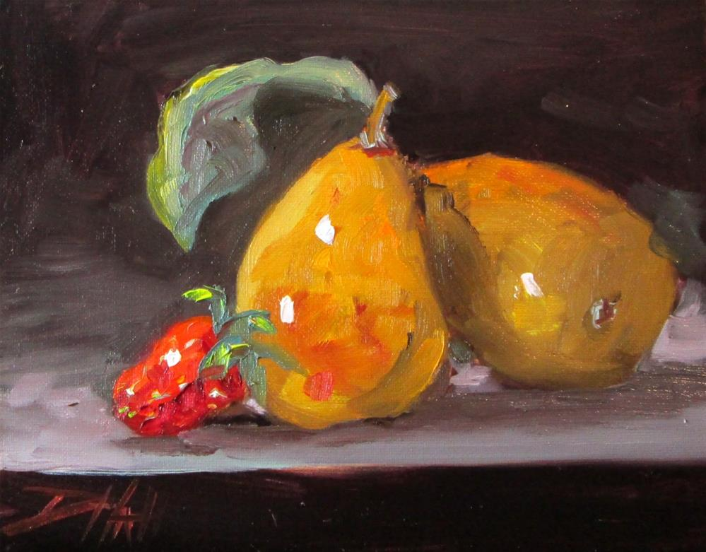 """Pears and Strawberries"" original fine art by Delilah Smith"
