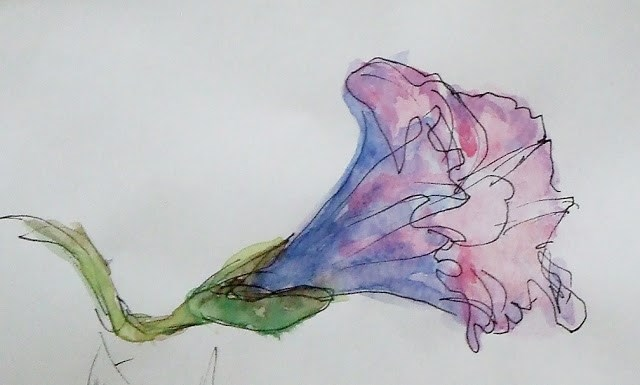 """Morning  G"" original fine art by Mitsuru Cope"