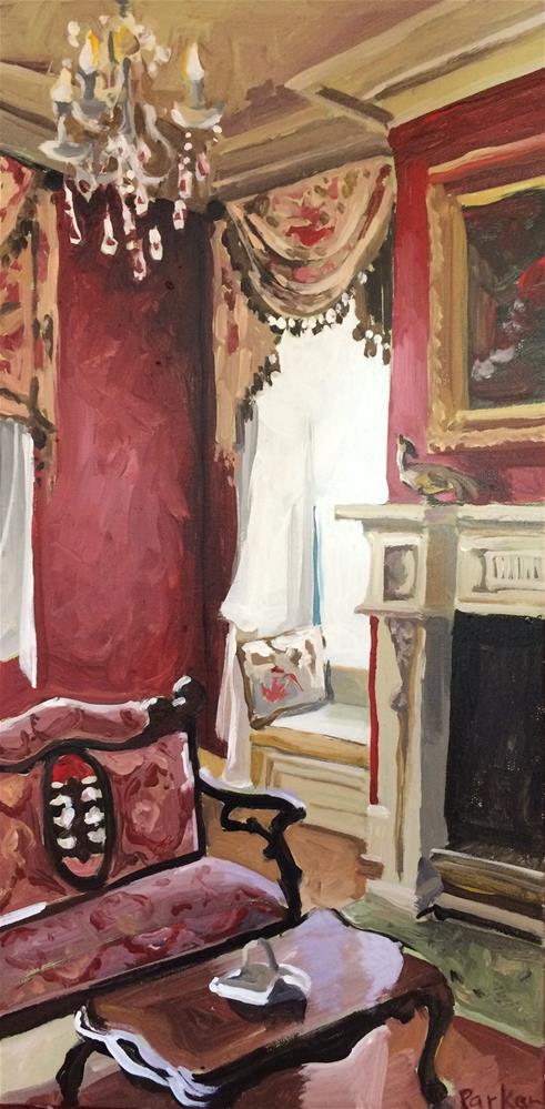 """Red Interior"" original fine art by Teddi Parker"