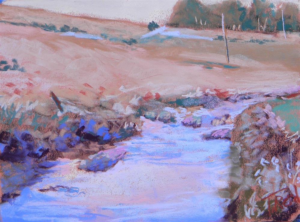 """""""Peaceful Creek"""" original fine art by Toby Reid"""