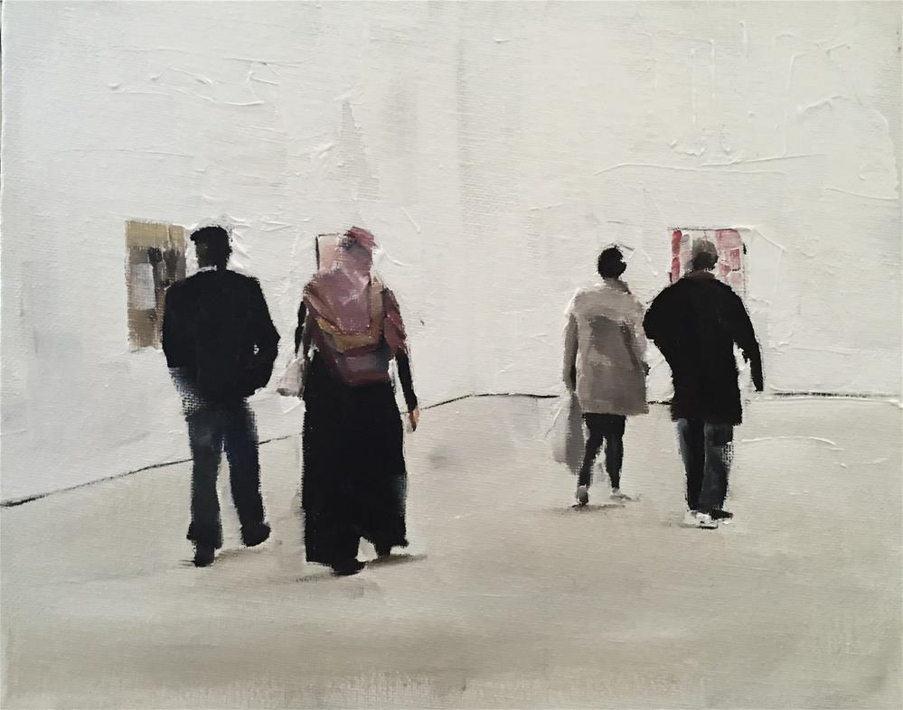 """Visitors at The Saatchi Gallery"" original fine art by James Coates"