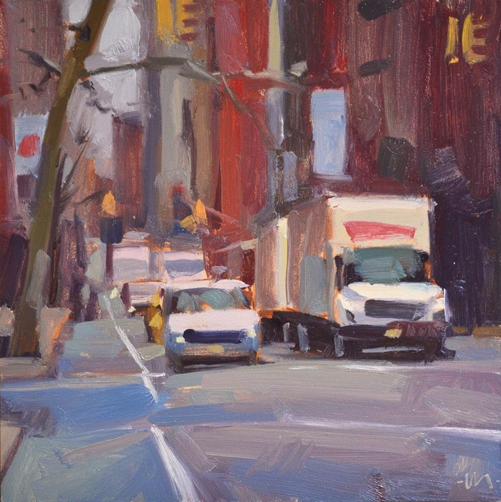 """City Grays"" original fine art by Carol Marine"