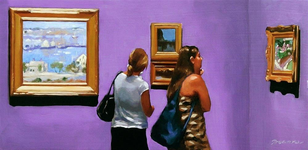 """""""In The Harbor of Art--Painting People in Museum/Gallery Series"""" original fine art by Joanna Bingham"""