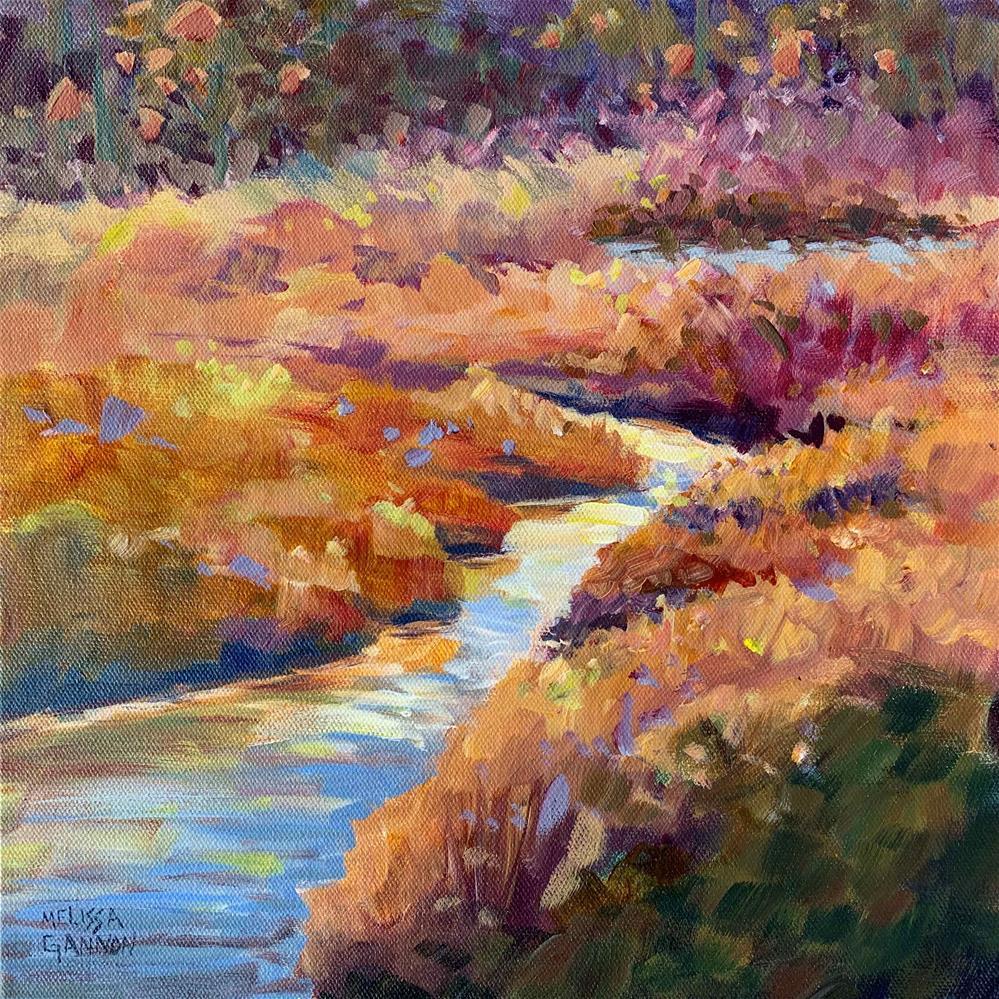 """Water Path in the Marsh"" original fine art by Melissa Gannon"