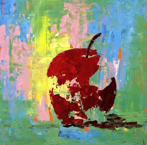 """""""Pastel Apple"""" original fine art by Anna Vreman"""