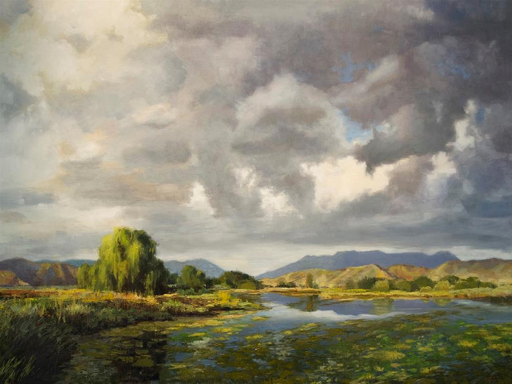 """Sunrise at the Pond"" original fine art by Susan N Jarvis"