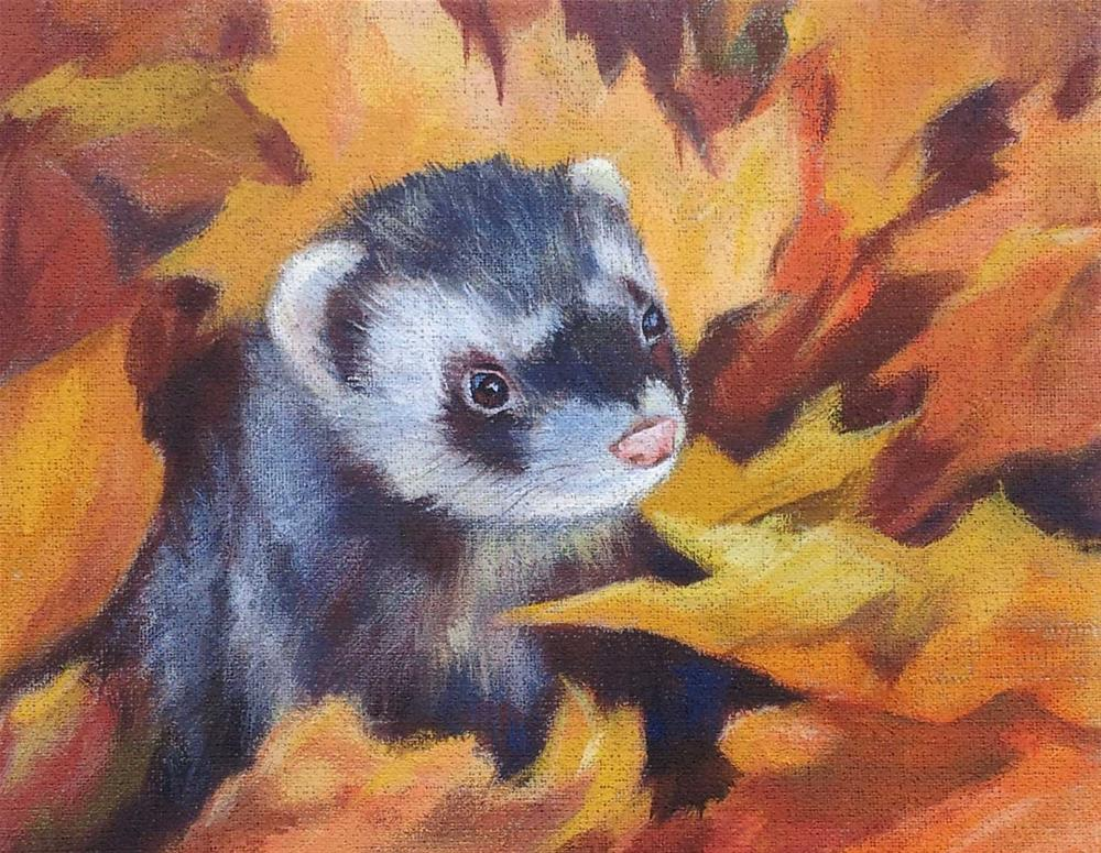 """""""DCS # 18 - Ferret Challenge"""" original fine art by Olga Touboltseva-Lefort"""