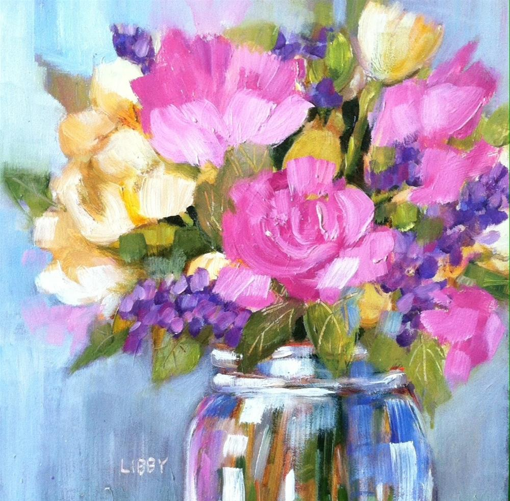 """""""Quiet Pink"""" original fine art by Libby Anderson"""