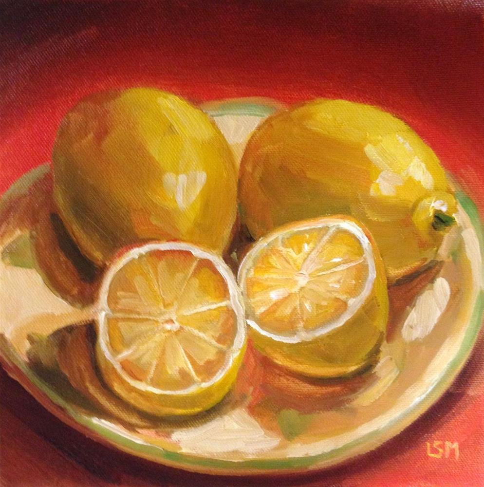 """2 and 2 halves lemons"" original fine art by Linda Marino"