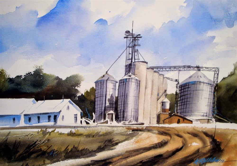 """INDUSTRY - Power /Seasons of Farming"" original fine art by Kathy Los-Rathburn"