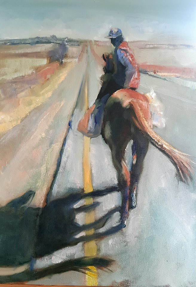 """King of the road"" original fine art by Rentia Coetzee"