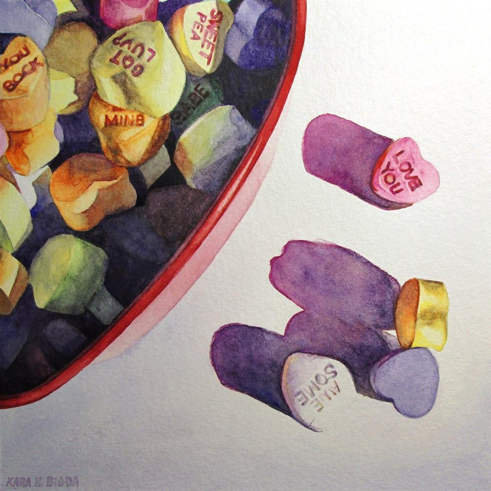 """Love You"" original fine art by Kara K. Bigda"