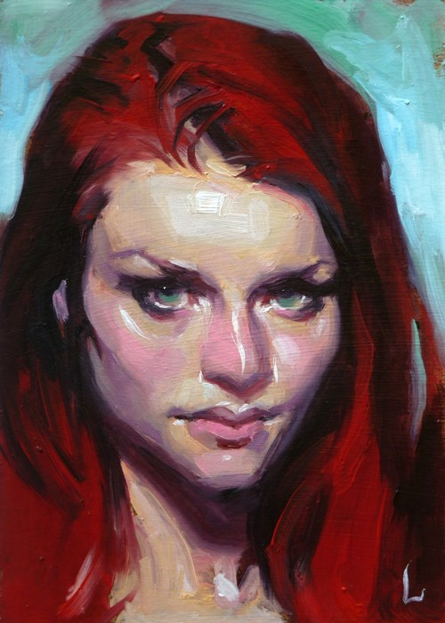 """Burn"" original fine art by John Larriva"