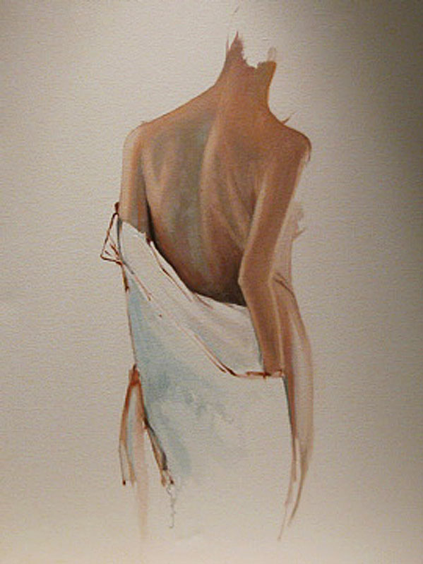 """Nude Study with Drape"" original fine art by Donna Thomas"