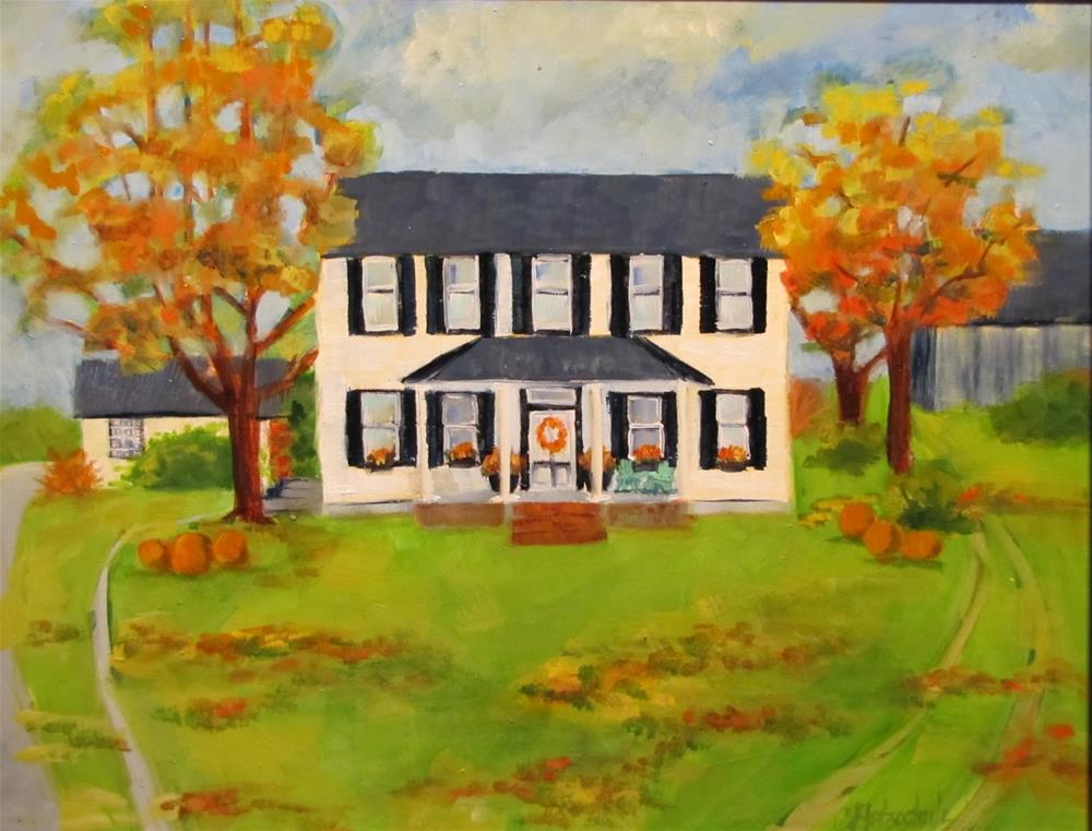 """Sarah's House"" original fine art by Christine Holzschuh"