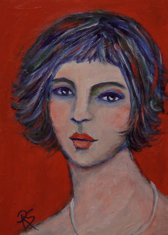 """Someone Like Me"" original fine art by Roberta Schmidt ArtcyLucy"
